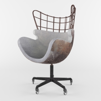 Egg Chair of Concrete 3600x3600